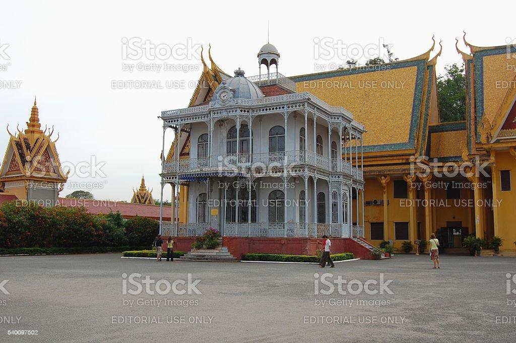 Napoleon III Pavilion at Royal Palace, Phnom Penh, Cambodia stock photo