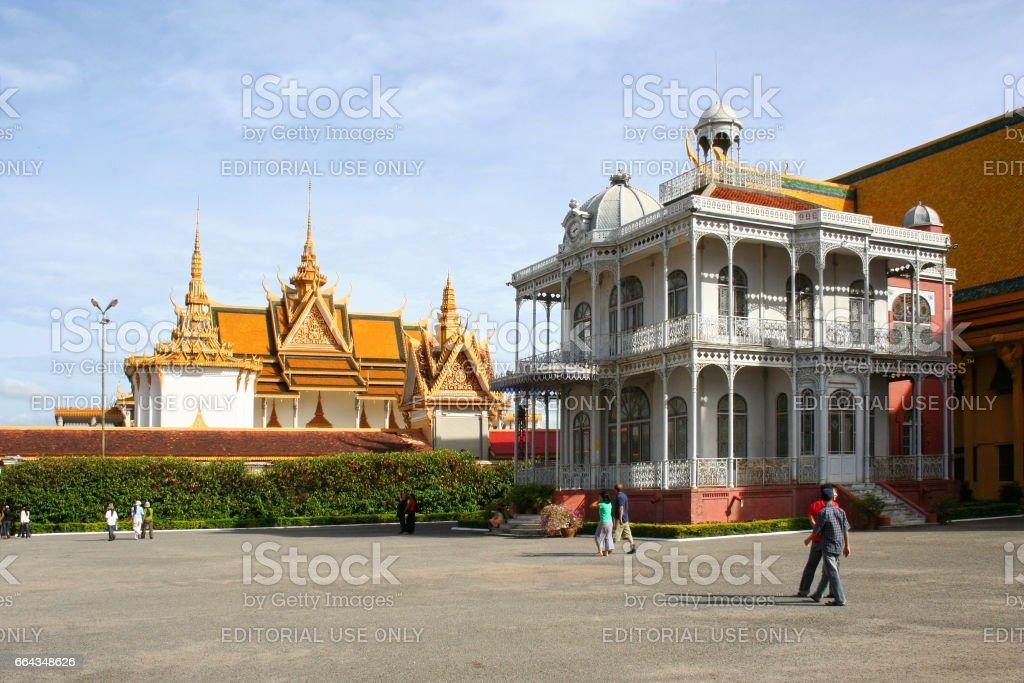 Napoleon III Pavilion in Phnom Penh stock photo