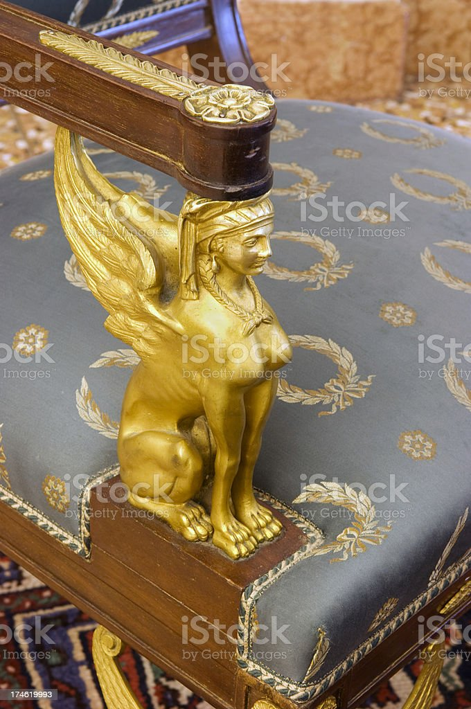 Napoleon III retour d´egypt furniture style royalty-free stock photo