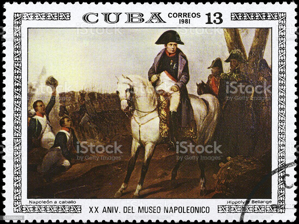 Napoleon on Horseback stock photo