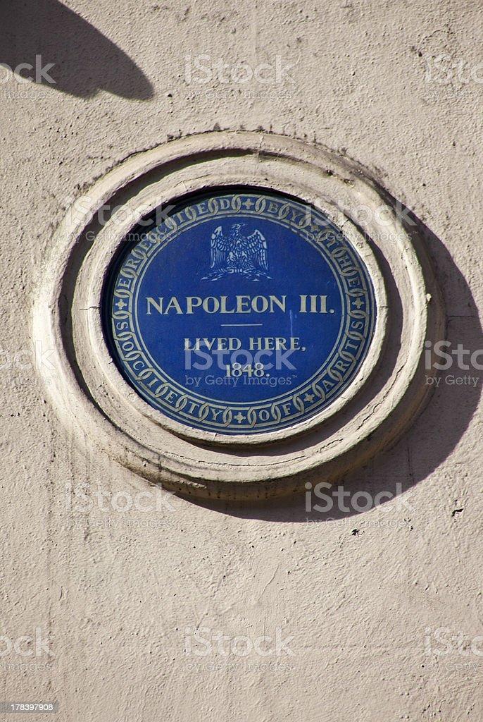 Napoleon Plaque in London stock photo