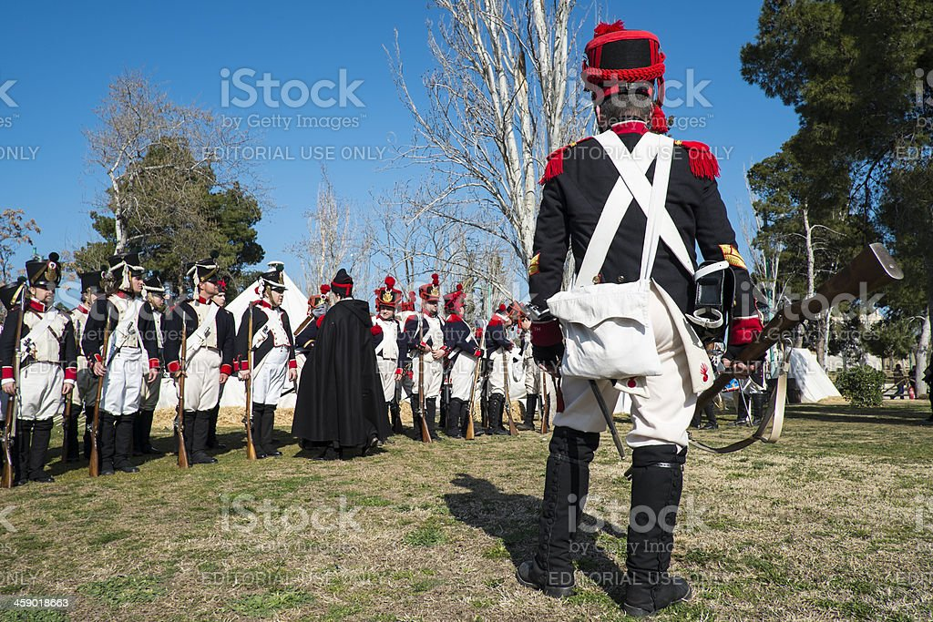 Napoleonic infantry royalty-free stock photo