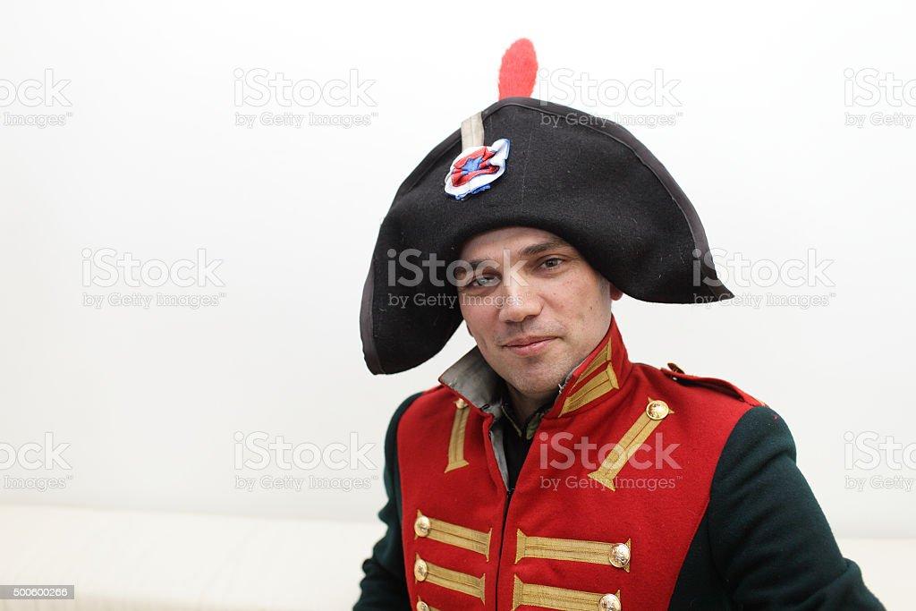 Napoleonic soldier stock photo