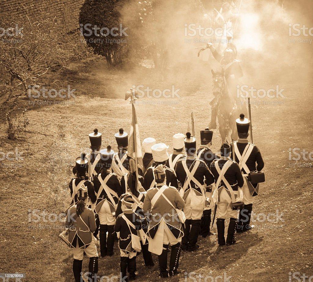 Napoleonic wars in Spain stock photo