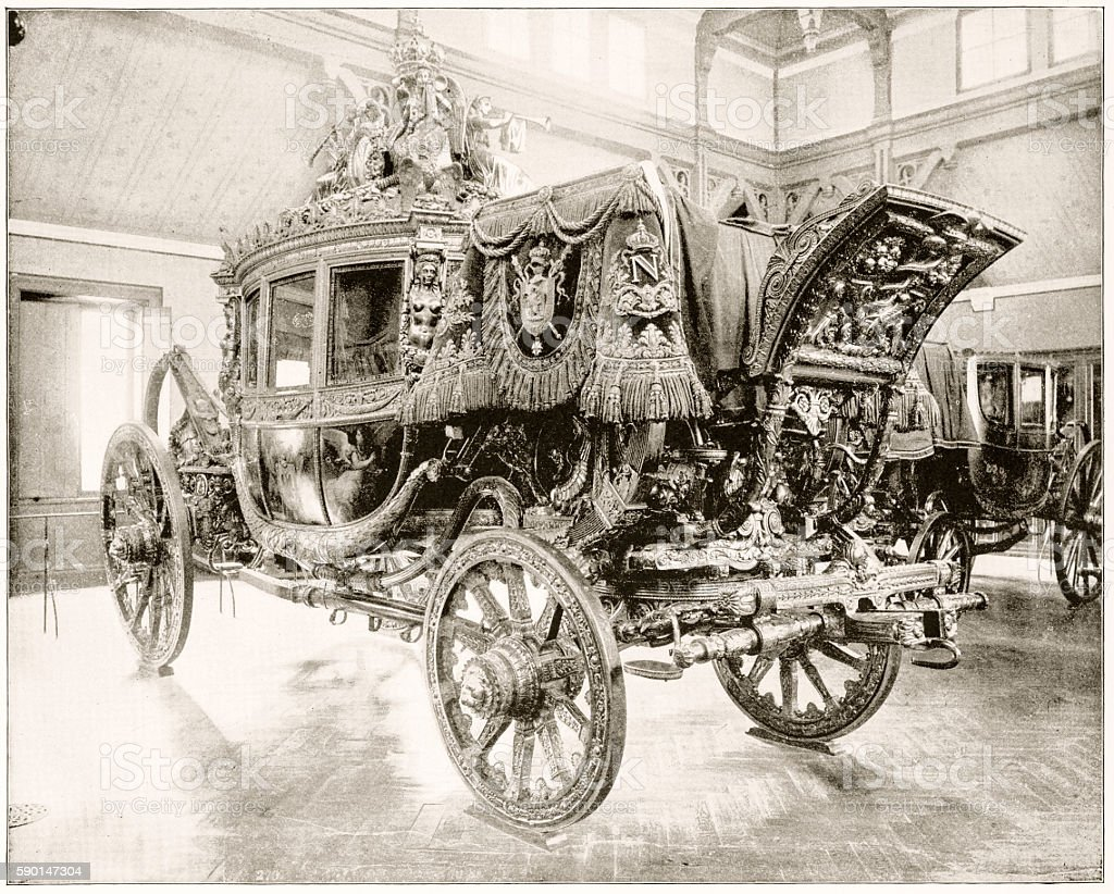 Napoleon's Carriage, France in 1880s stock photo