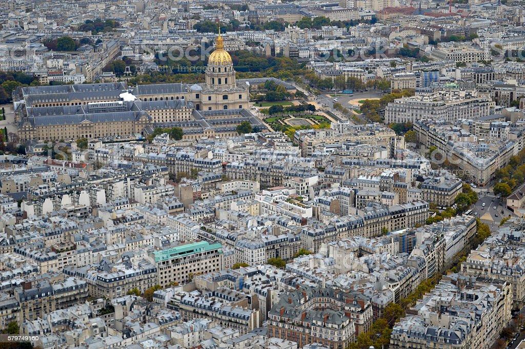 Napoleon's Dome in Left Bank, Paris, France stock photo