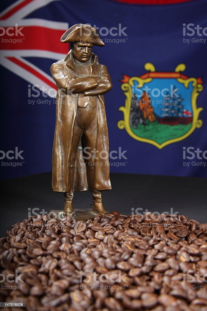Napoleon's St Helena coffee stock photo
