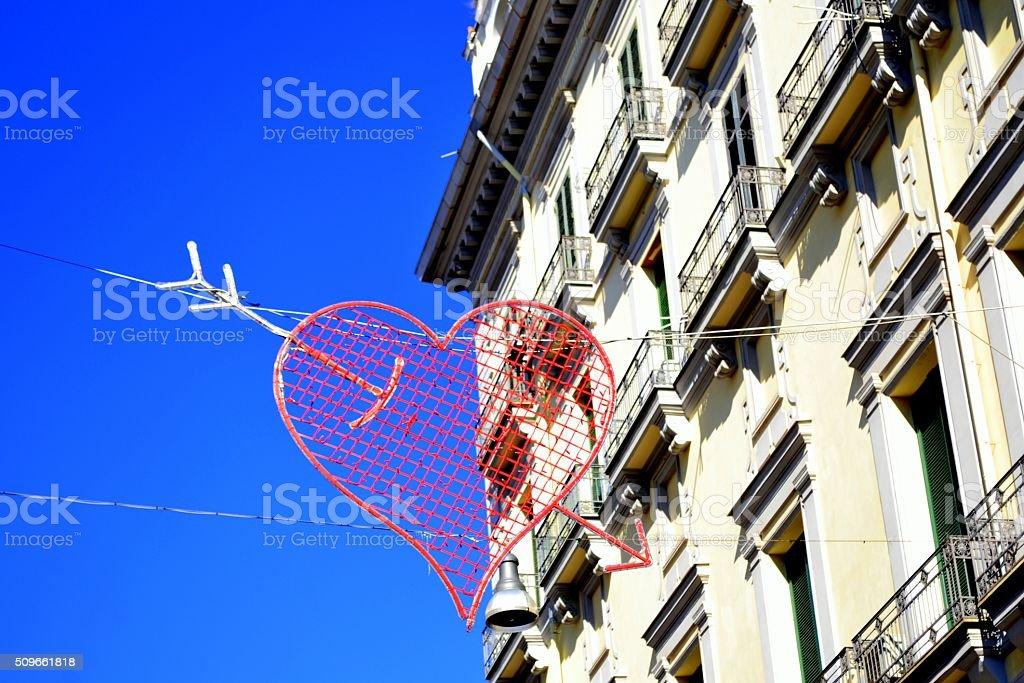 Napoli city. San Valentino stock photo