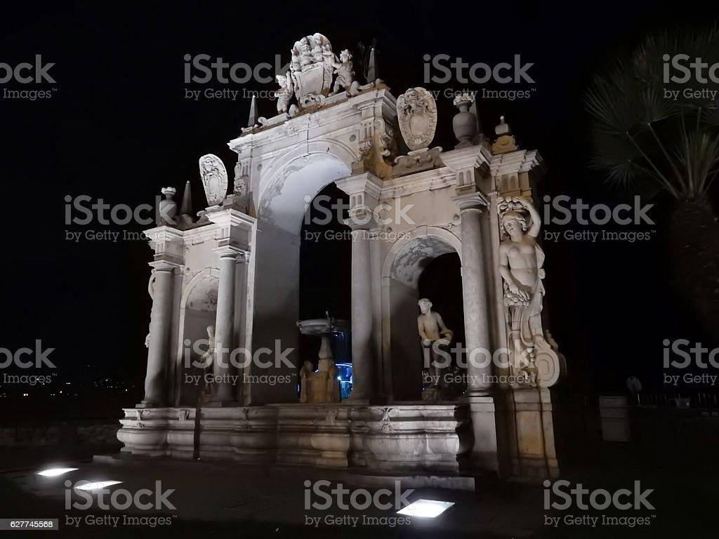 Napoli - Fontana del Gigante stock photo
