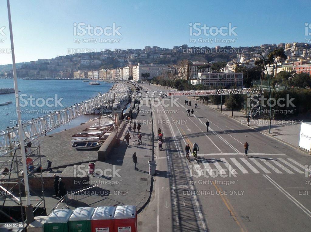 Napoli - Lungomare da Nalbero stock photo