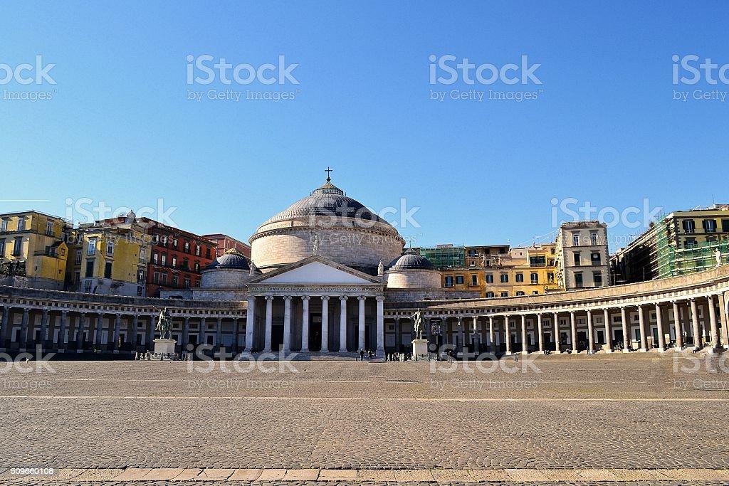 Napoli, Piazza Plebiscito stock photo