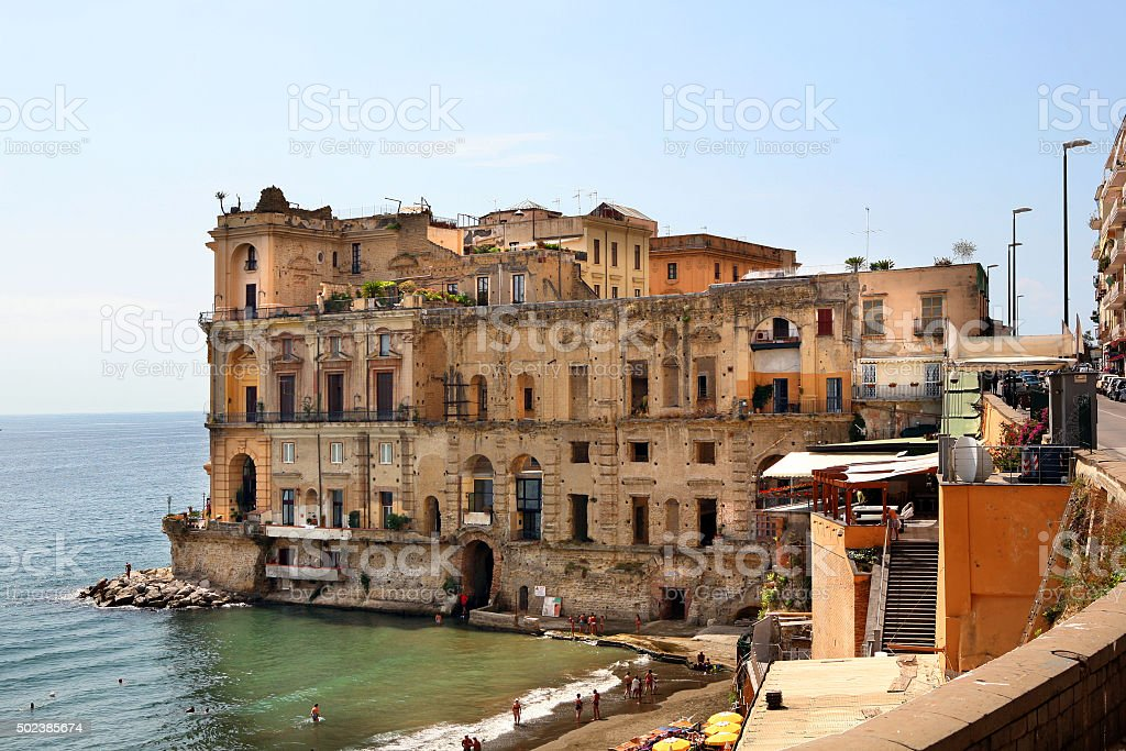 napoli posillipo stock photo