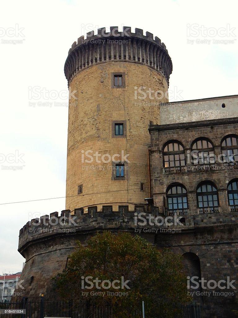 Napoli - Torre del Maschio Angioino stock photo