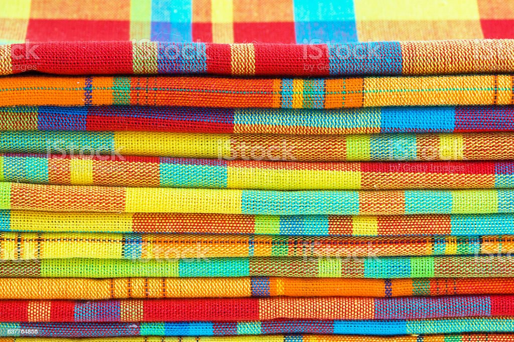 Nappes en madras tradition des iles antillaises stock photo