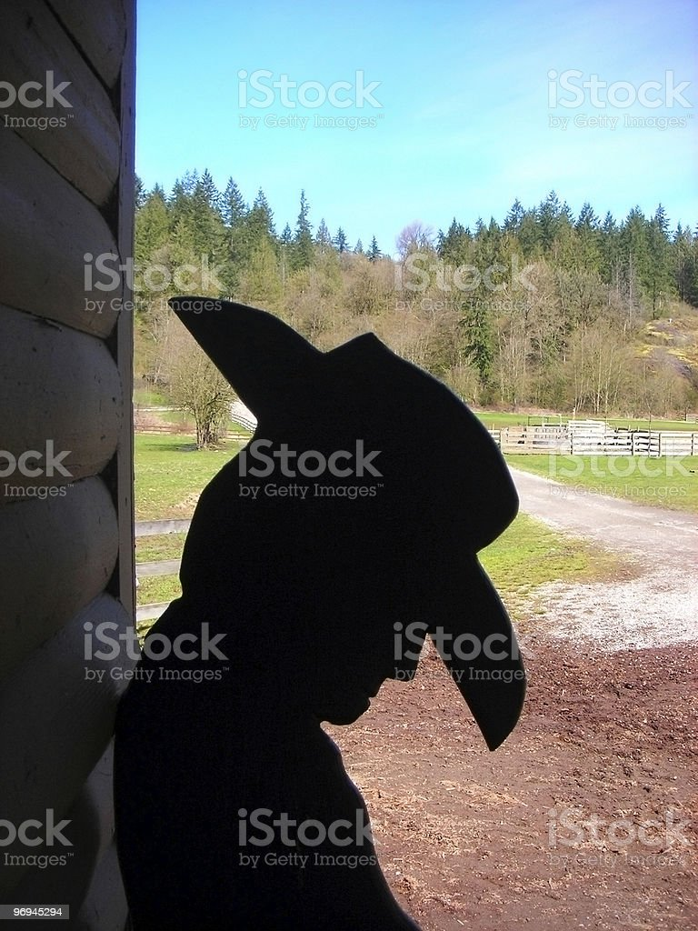 Napping Cowboy royalty-free stock photo