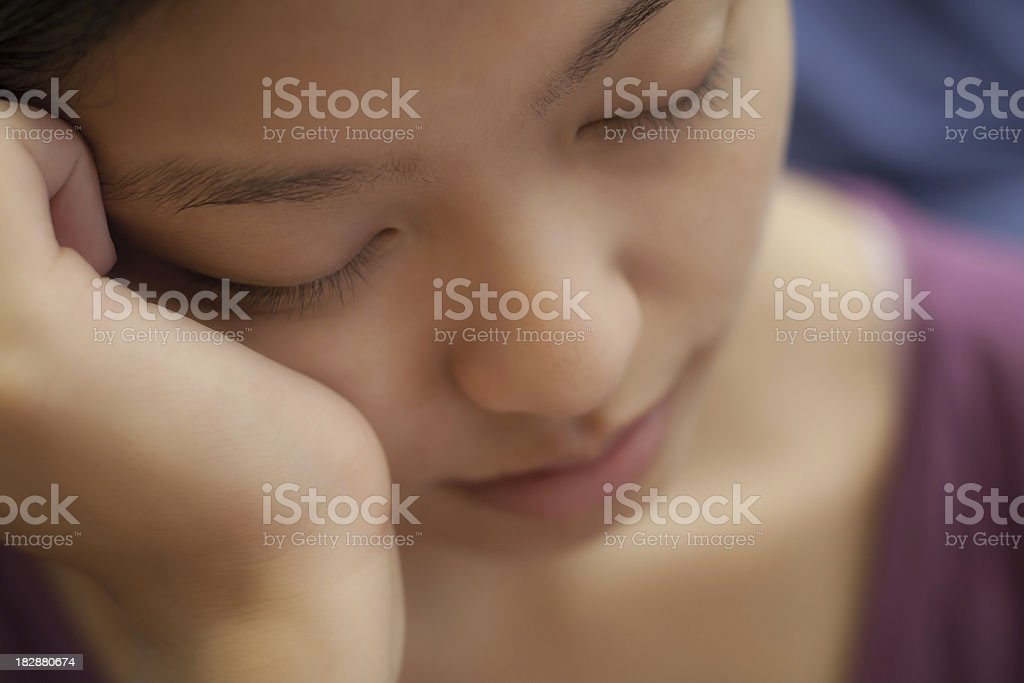 Napping Girl Portrait royalty-free stock photo