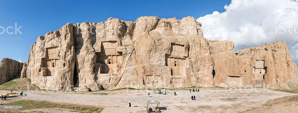 Naqsh-e Rustam, an ancient necropolis in Pars Province, Iran. Pa stock photo