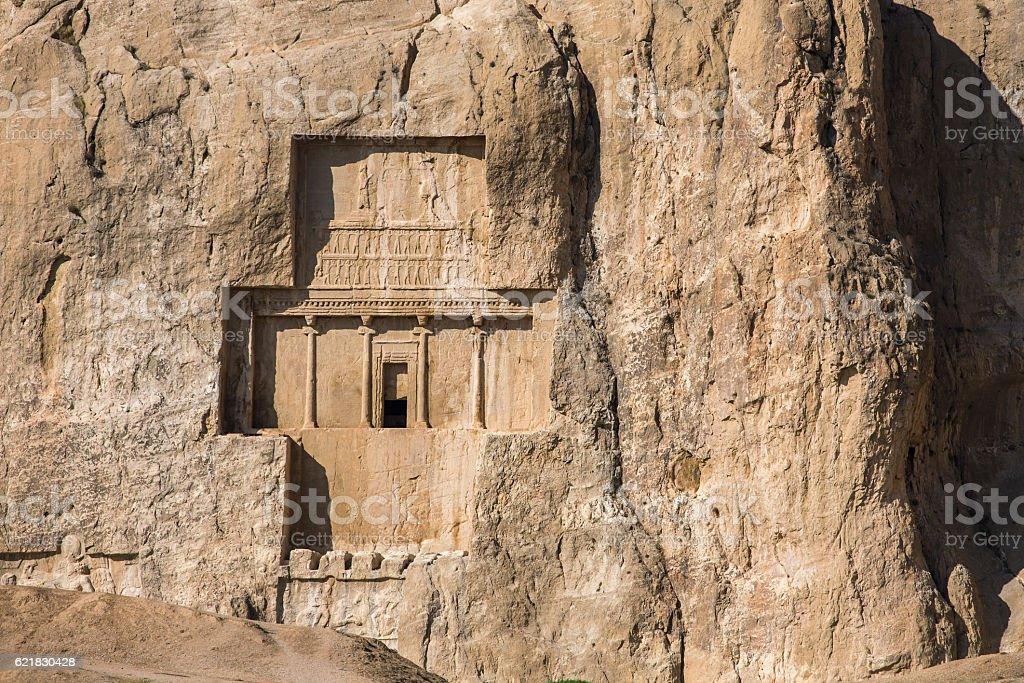 Naqsh-e Rustam, an ancient necropolis in Pars Province, Iran. stock photo