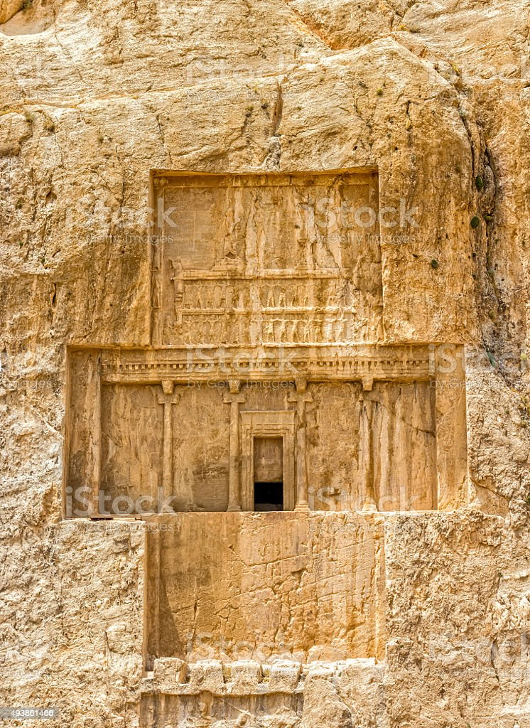 Naqsh-e Rustam Xerxes I tomb stock photo