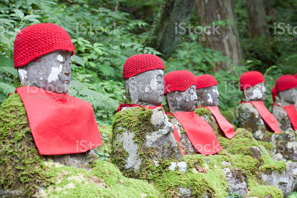 Narabi-jizo stock photo