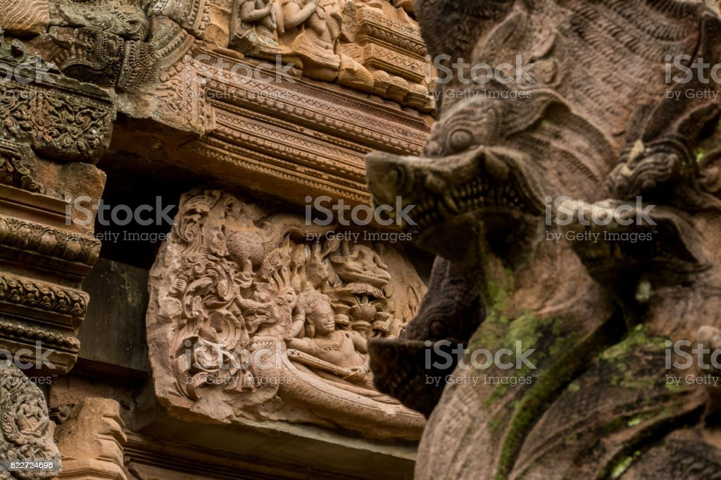 Naraibantomsin(Phra Narai) ,at historic park phanomrung, Buriram province in Thailand stock photo