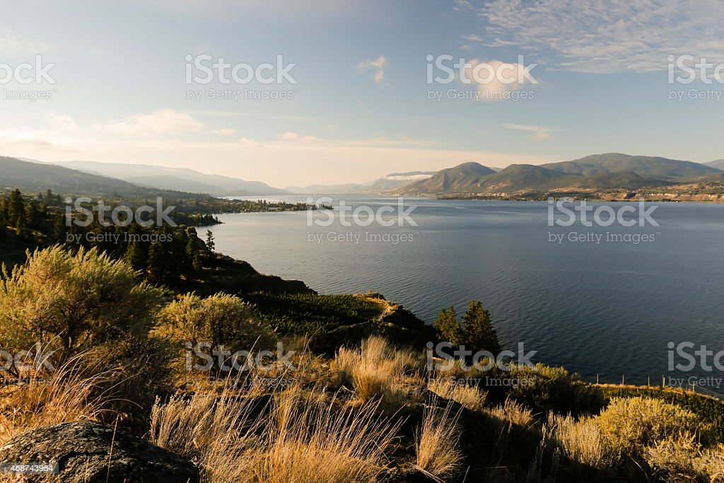 Naramata Penticton Okanagan Lake British Columbia stock photo