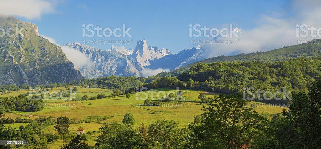 Naranjo de Bulnes panorama stock photo