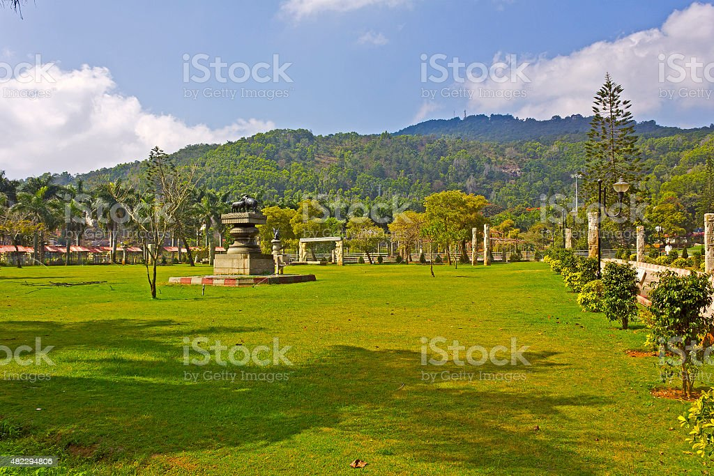 Narayanagiri Gardens stock photo