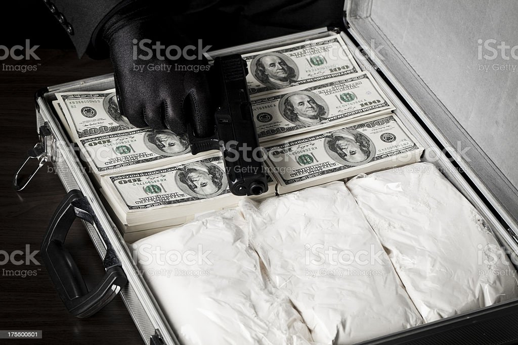 Narcotic crime stock photo