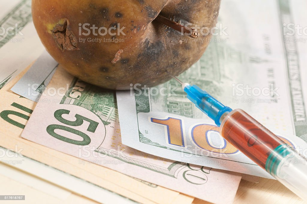 Narcotic drugs kill stock photo