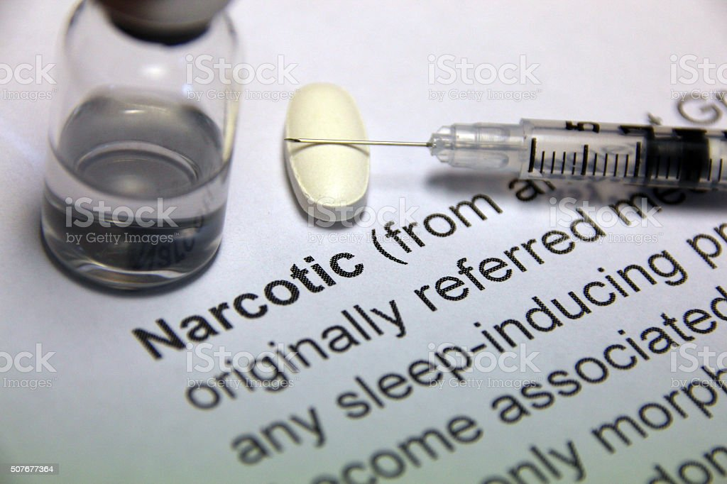 Narcotic stock photo