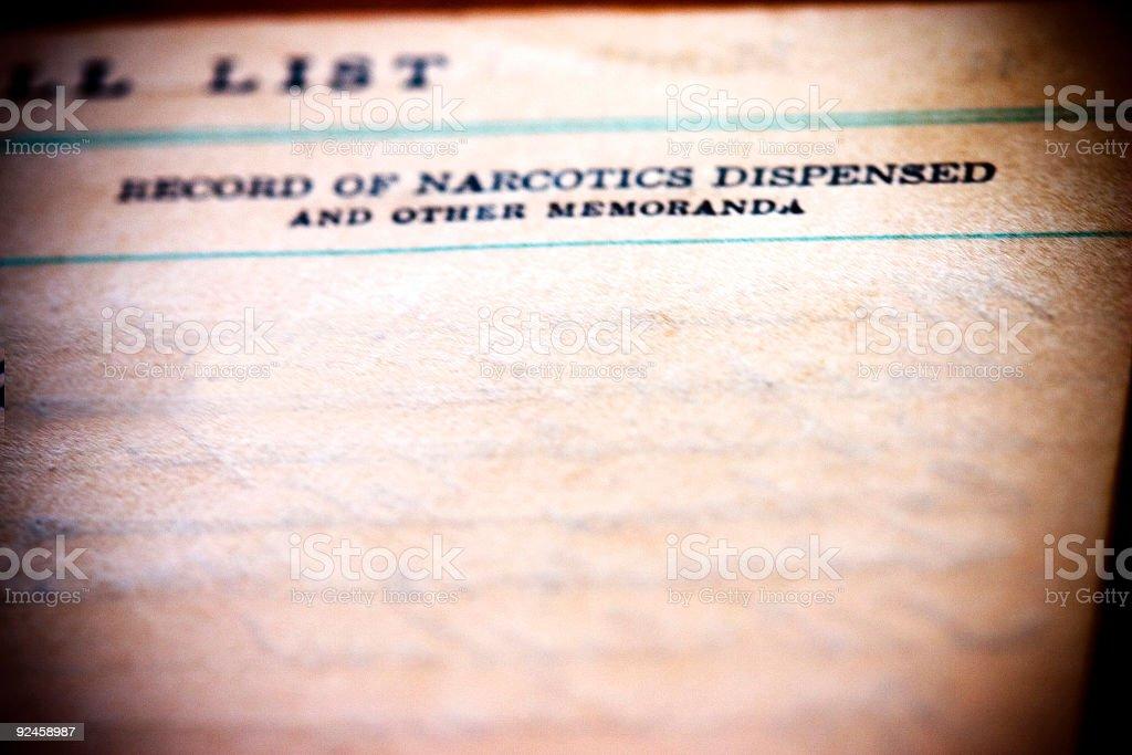 Narcotics Dispensed royalty-free stock photo