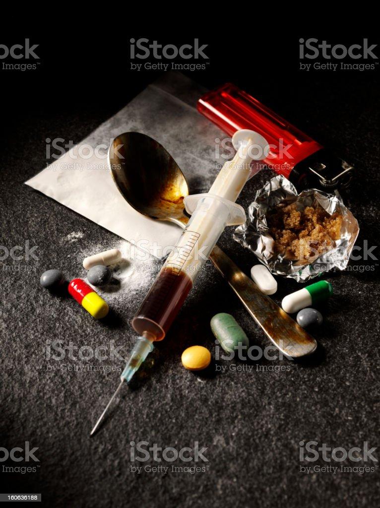 Narcotics in the Dark stock photo