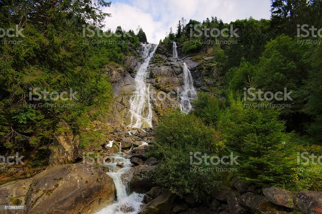 Nardis Waterfall in Alps stock photo