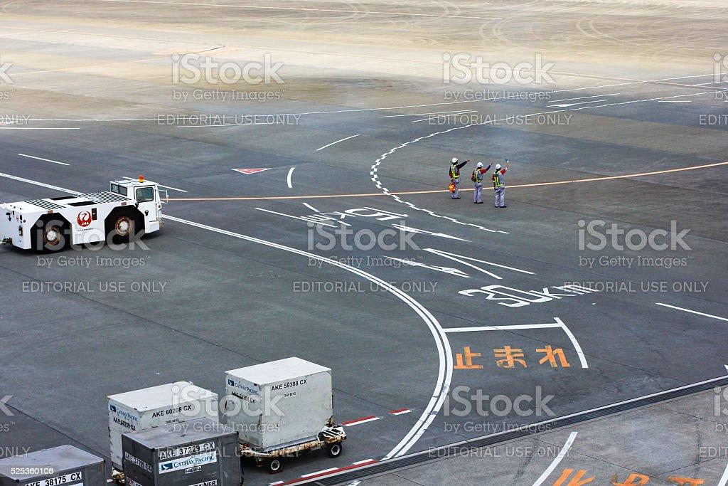 Narita Airport in Tokyo, Japan stock photo