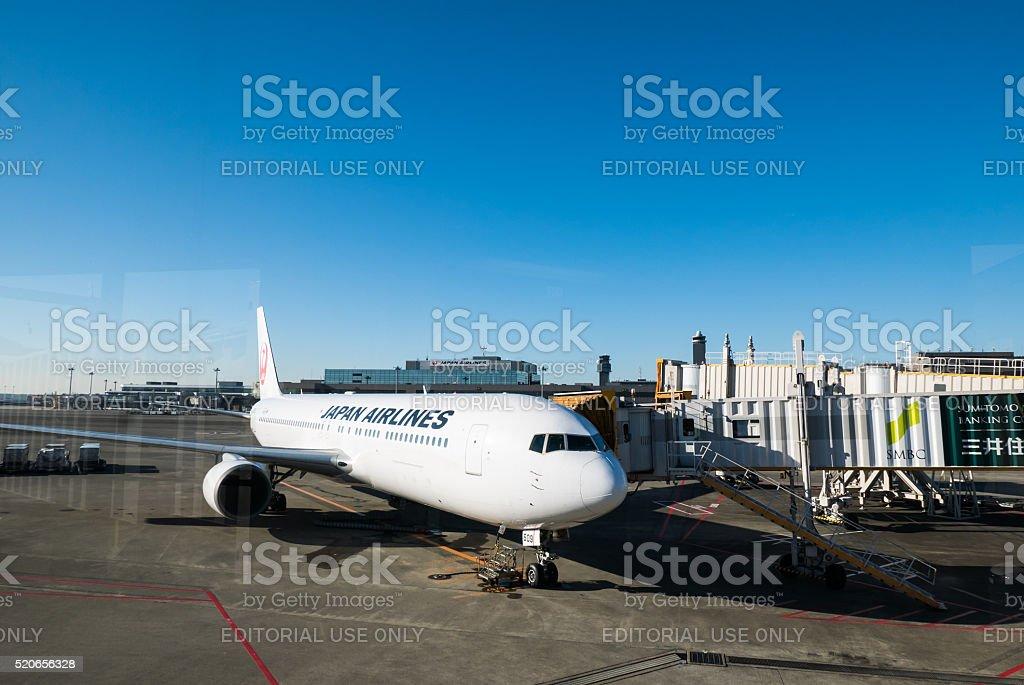 Narita international airport stock photo