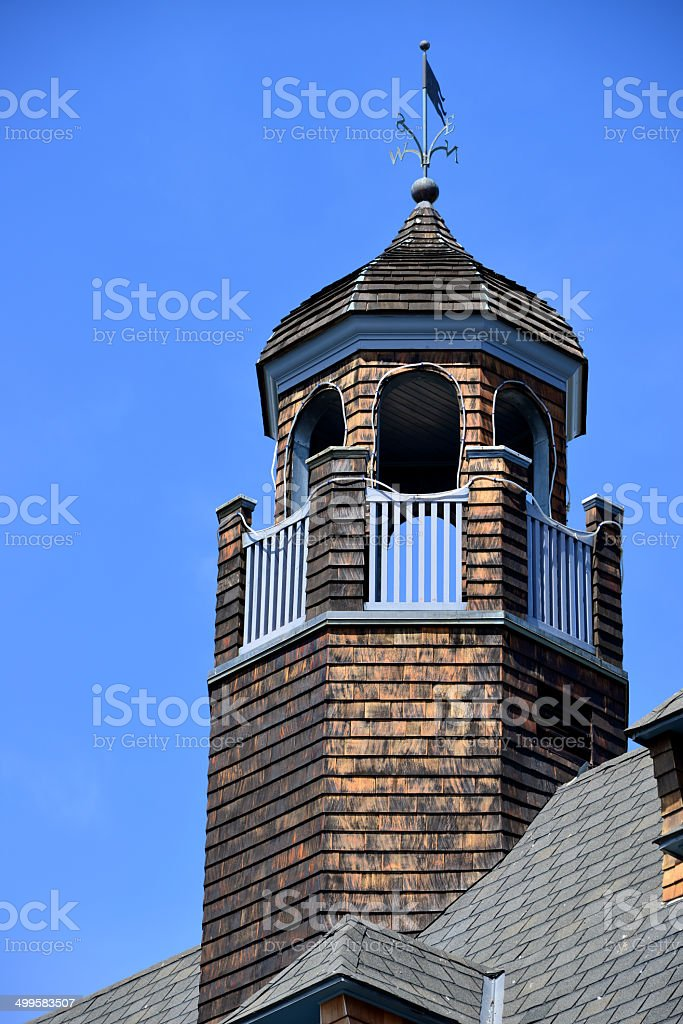 Narragansett Pier, Rhode Island, USA: observation turret stock photo
