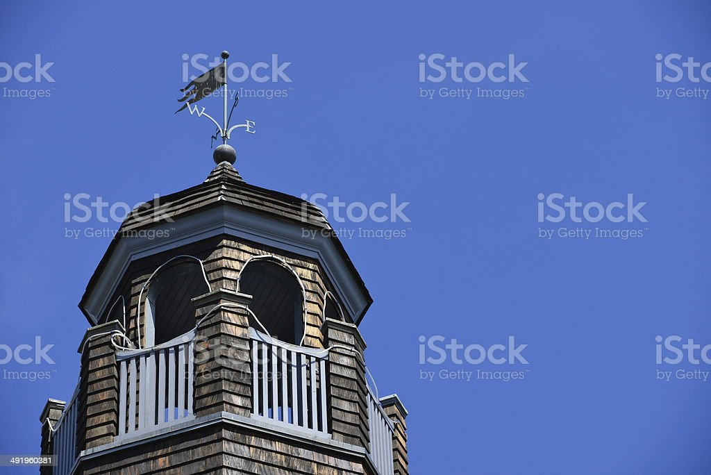 Narragansett Pier, RI: The Towers - observation turret stock photo
