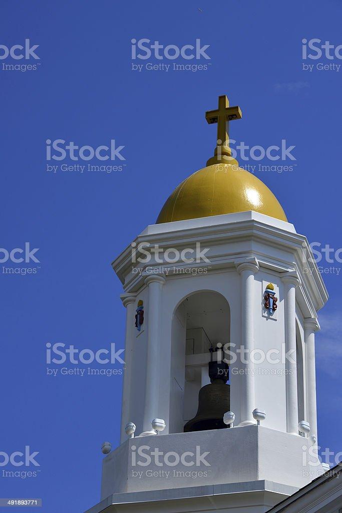 Narragansett, RI, USA: St Mary Star of the Sea church stock photo