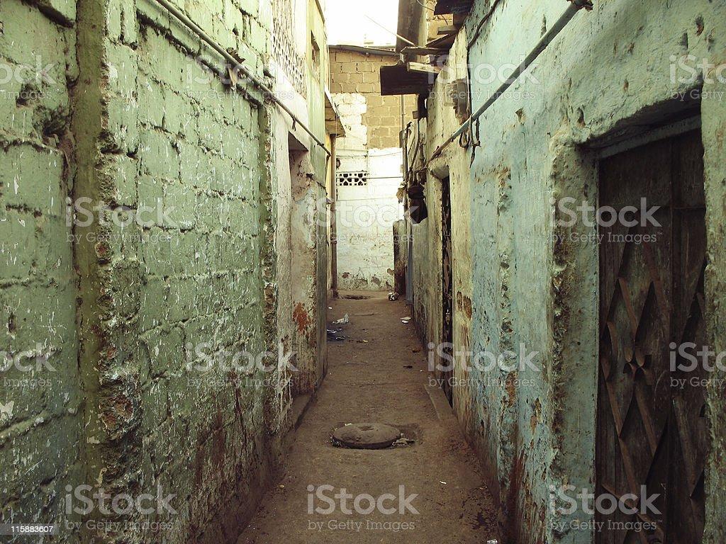 Narrow alley stock photo
