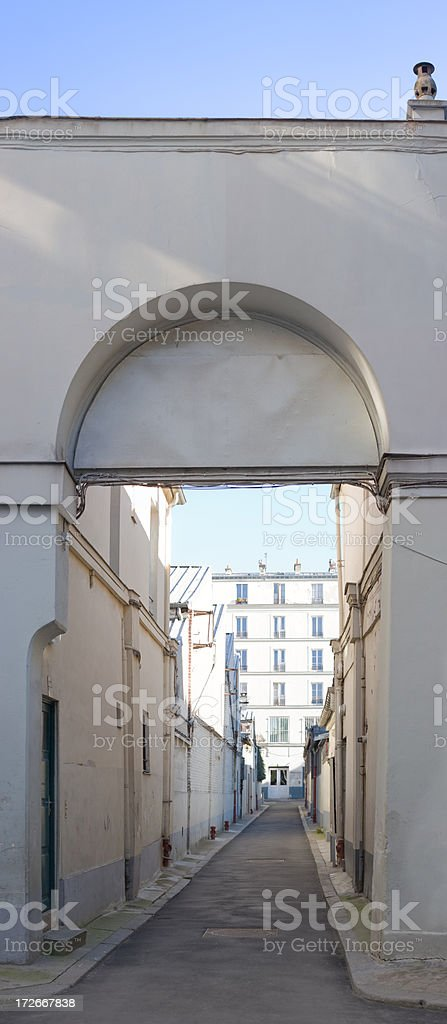 Narrow Alley royalty-free stock photo