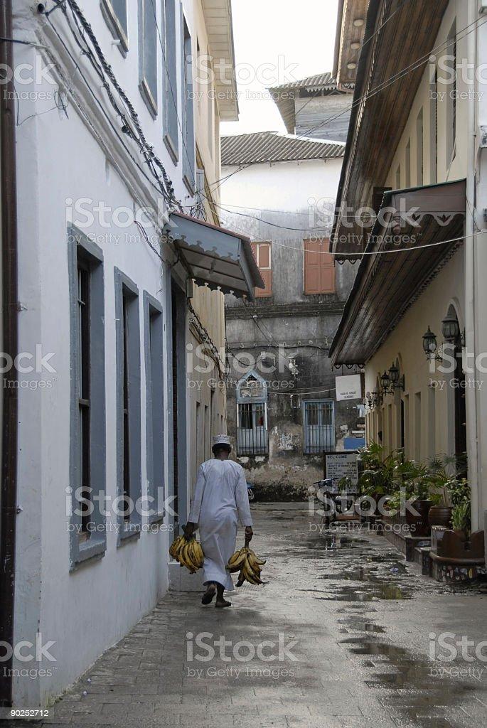 Narrow alley,Stone Town,Zanzibar. royalty-free stock photo