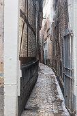Narrow, ancient street Liege
