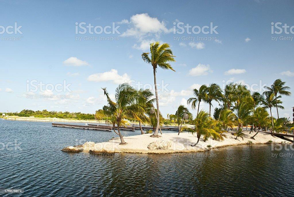 Narrow Beach stock photo