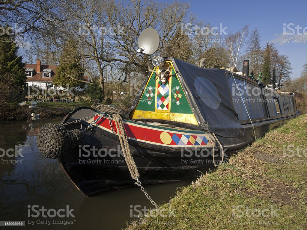 narrow boat royalty-free stock photo