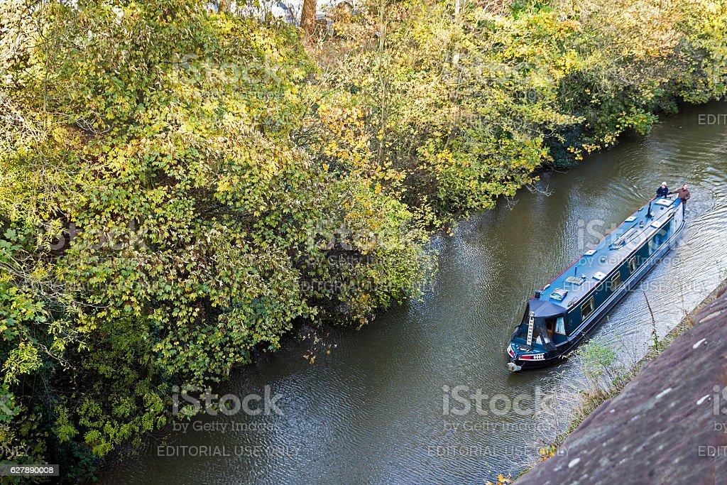 Narrow Boat Shropshire Union Canal Chester. stock photo