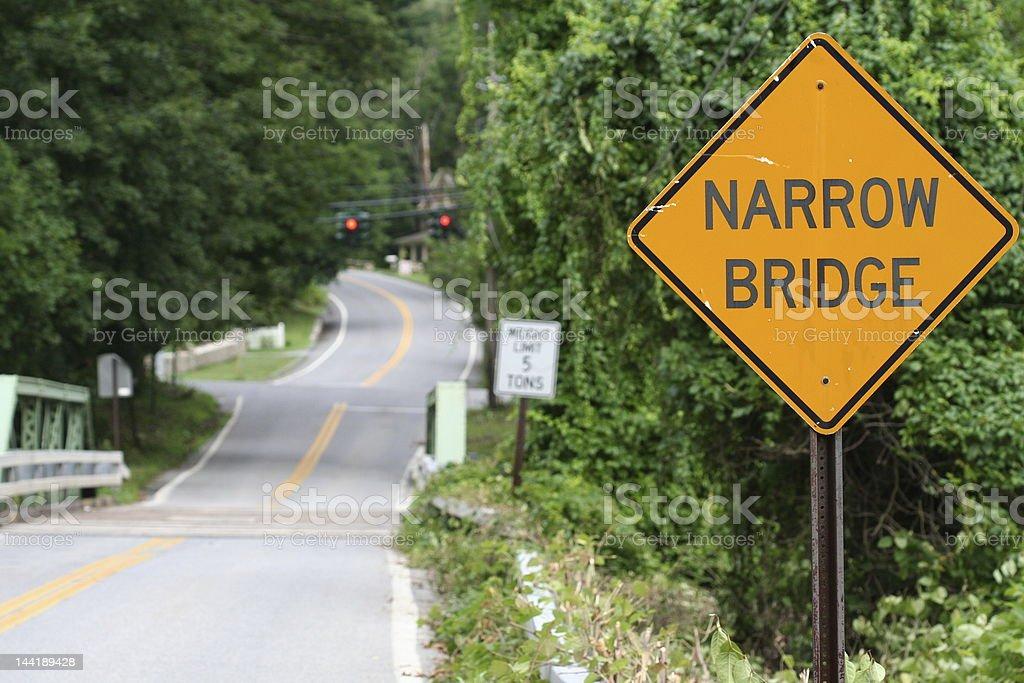Narrow Bridge royalty-free stock photo