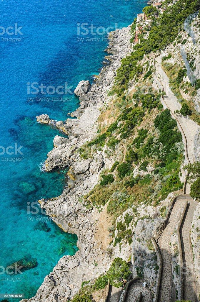 Narrow Capri Walkway stock photo
