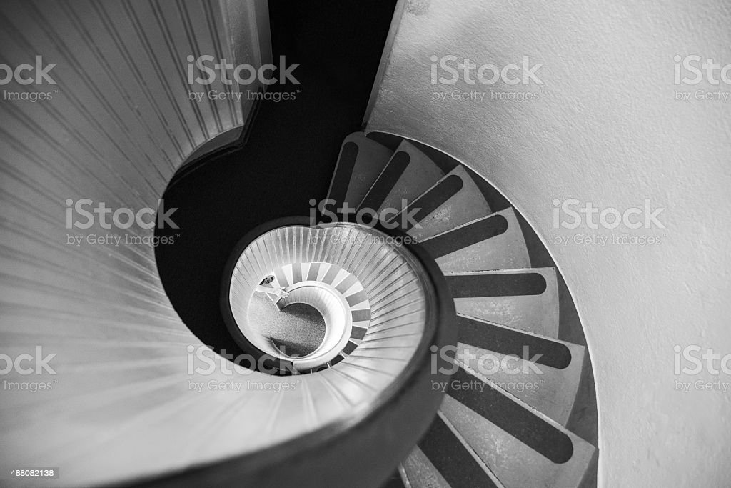 Narrow Circular Staircase Abstract stock photo
