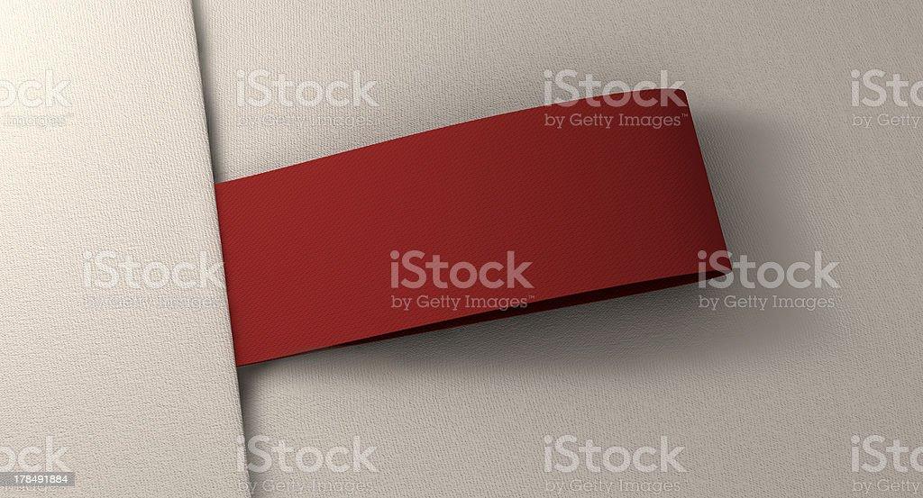 Narrow Clothing Label OnWhite Fabric Top stock photo